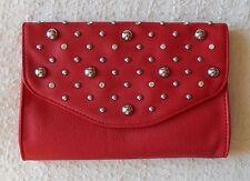NEW Grace Adele BRITT Scarlet Clutch Purse Bag 22 inch detachable strap HTF