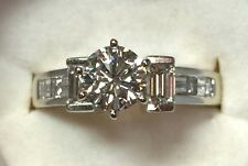 18K SOLID GOLD OUTSTANDING LADIES DIAMOND ENGAGEMENT RING W/ 1.50 CT. TCW.