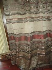 MORGAN HOME JACQUARD SOUTHWESTERN BLACK PLATINUM TERRACOTTA SHOWER CURTAIN 71X69
