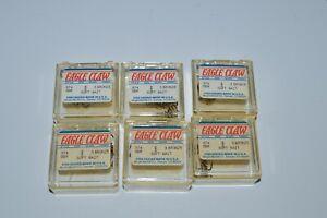 6 Boxes Eagle Claw Spring Bronze Soft Bait Dough Treble Fish Hooks Size 8 374SBR