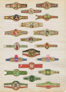 Mexican portraits  20 cigar bands will soak Andres Corrales   #278