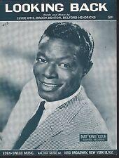 Looking Back 1958 Nat King Cole Sheet Music Sheet Music