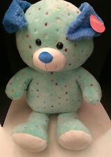"""Holiday Home Huge Mint Green Plush Puppy Dog 33"""" Soft Toy 2019 Colored Polka Dot"""