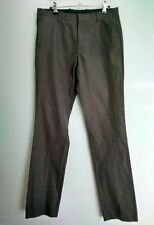 COS slim fit flat front men's trousers size 32  grey --VGC--