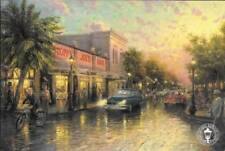 "KEY WEST Thomas Kinkade Postcard Art 8.5 x 5.5"" Florida Sloppy Joes Hemmingway"
