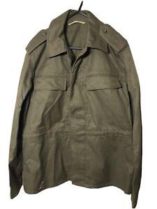 Vintage 1990 Czech OZKN PRESOV MEN'S KHAKI GREEN HEAVY DUTY Canvas Jacket Coat