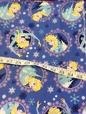 Disney Frozen Elsa Fabric Cameo Design 2 1/2 Yds Twill Cotton Spring Creative