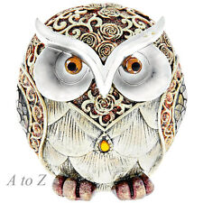 Gold Rose Owl Ornaments Animals Birds Figures Home Decor Art Gifts New 55300