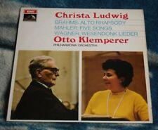 CHRISTA LUDWIG  SINGS MAHLER / BRAHMS / WAGNER KLEMPERER HMV ASD 2391 1ST STAMP