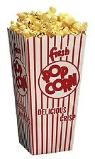 NEW OPEN TOP POPCORN SCOOP BOXES CASE of 100 .75-1 OZ.