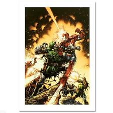 MARVEL DAVID FINCH IRON PATRIOT DR. DOOM GICLEE CANVAS LTD ED S/N BY STAN LEE