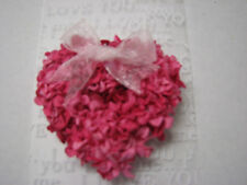 Natural Paper Hydrangea Flower Mini Flower Heart Magnet Party Wedding Gift Decor