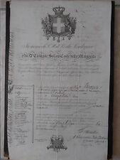 DOCUMENT ANCIEN PASSEPORT ITALIE DELIVRE AU NOM DU ROI DE SARDAIGNE 1836