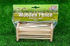 Kids Globe Wooden Fences 6 pieces - toy farm accessories. scale 1:24