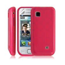 Housse coque etui gel rond transparent pour Samsung Wave 575 S5750 couleur rose