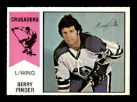 1974-75 O-Pee-Chee WHA #9 Gerry Pinder  NM/NM+ X1369450