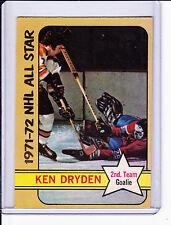 """1972-73 opc High # 247 """"Ken Dryden"""" 2nd Team (AS) HOCKEY CARD Third Series Card"""