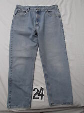 vtg wrangler classic 100% cotton USA jeans men 36x30 distressed blue wash HOT!