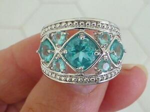 ROSS SIMONS 5 Blue Topaz FAncy Beaded Sterling Silver Ring Size 6