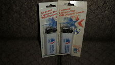 Two 1984 Olympic Butane Cigarette Lighters XXXIII 23d Olympic Games Los Angeles