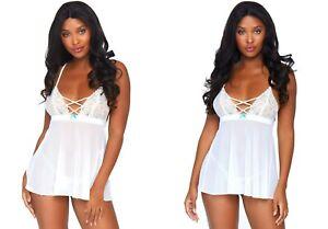 Sexy Leg Avenue Babydoll 81561 S-L Negligee Reizwäsche Dessous Nachtwäsche Damen