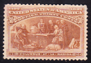 US Scott 239 old 30c Columbian Expo issue M/NG CV $240