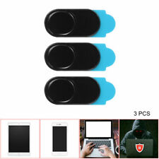 3x Webcam Cover Ultra Thin 1mm Camera Sticker Slider Laptop Mobile Tablet Black