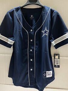 Dallas Cowboys NFL Lorde Fashion Jersey Women's Navy Large