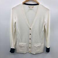 Banana Republic Womens Size XS Long Sleeve Cardigan Sweater V Neck White 581
