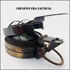 Brass Antique Engineering Compass Surveying Maritime Handmade Pocket Compass