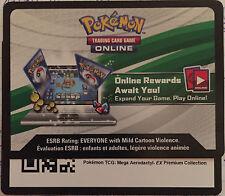 Pokemon TCG : MEGA AERODACTYL - EX Premium Collection Online CODE Sent Fast.