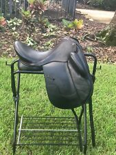 Jrd Dressage Saddle, 17.5 inch, excellent condition, black with red piping