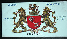 Bremen German City Historic Arms Vintage Card