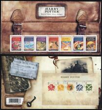 UK (Great Britain) 2007 Harry Potter Complete Mint MNH Set & Miniature Sheet