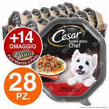 Cesar Scelta dello Chef Cibo per Cane, Manzo alla Griglia con Riso Integrale e Verdure 150 g - 14 Vaschette