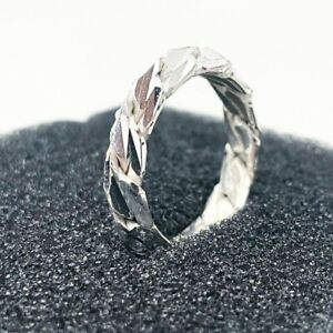 Unique Hand Made Pure Silver Ring Mens Womens Ring - THE JEWELLERY WORKSHOP