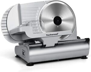 """Techwood Commercial Electric Meat Slicer 9"""" Blade 240w 530 rpm Deli Food cutter"""