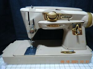 Singer 500A Slantomatic Sewing Machine; the Rocketeer SERVICED