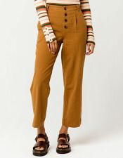 O'Neill Seger Crop Women's High Waisted Wide Leg Textured Linen Pants Size 29