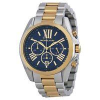Michael Kors MK5976 Zwei Ton Ziffernblatt Blau Chronograph Bradshaw Uhr