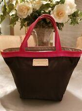 Kate Spade black nylon tote handbag with pink and red trim