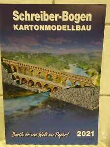 Katalog 2021 Schreiber Bogen Kartonmodellbau *NEU* Bastelbogen