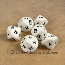 NEW 6 Roman Numeral D10 Ten Sided RPG D&D Game Dice Set Large 20mm 13/16 inch