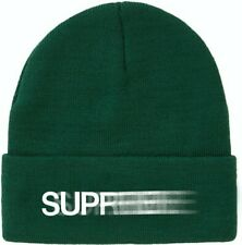 Supreme Motion Logo Beanie Green w/White Lettering In Hand Completely Sold Out!