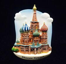 Moscow RUSSIA Saint Basil's Cathedral 3D MAGNET SOUVENIR FRIDGE RESIN TOURIST