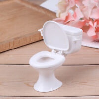 Dollhouse Furniture Vintage Bathroom Toilet Miniature Toys Dolls Accessor SE