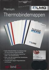 LMG Thermobindemappen, matt satinierte Folie, Lederstruktur schwarz 4,0mm