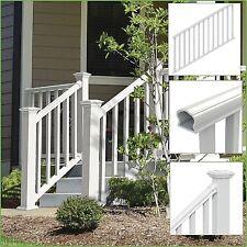 STAIR RAILING KIT Traditional Veranda Durable Handrail Vinyl Porch Deck, White
