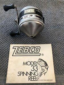 Vintage Zebco Model 33 Spinning Reel