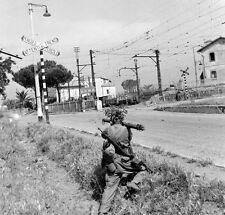 WWII Photo US Soldiers with Bazooka Rome Italy  World War Two WW2 B&W / 1321